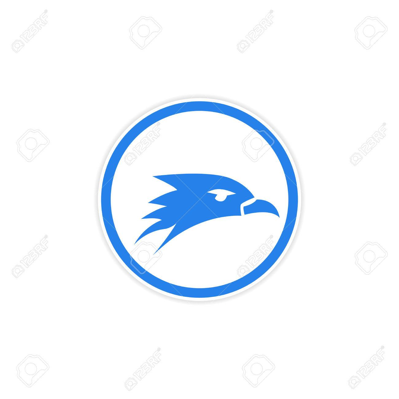 sticker eagle head logo royalty free cliparts vectors and stock rh 123rf com