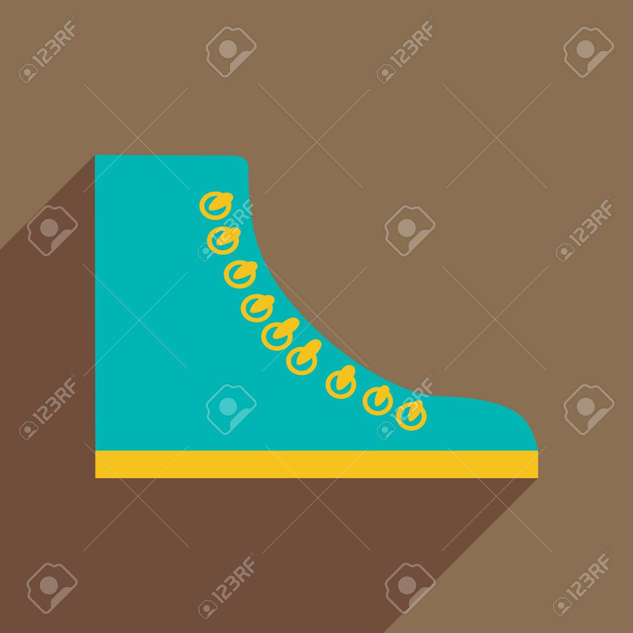 Flat Icon With Long Shadow Casual Gumshoes Royalty Free Cliparts