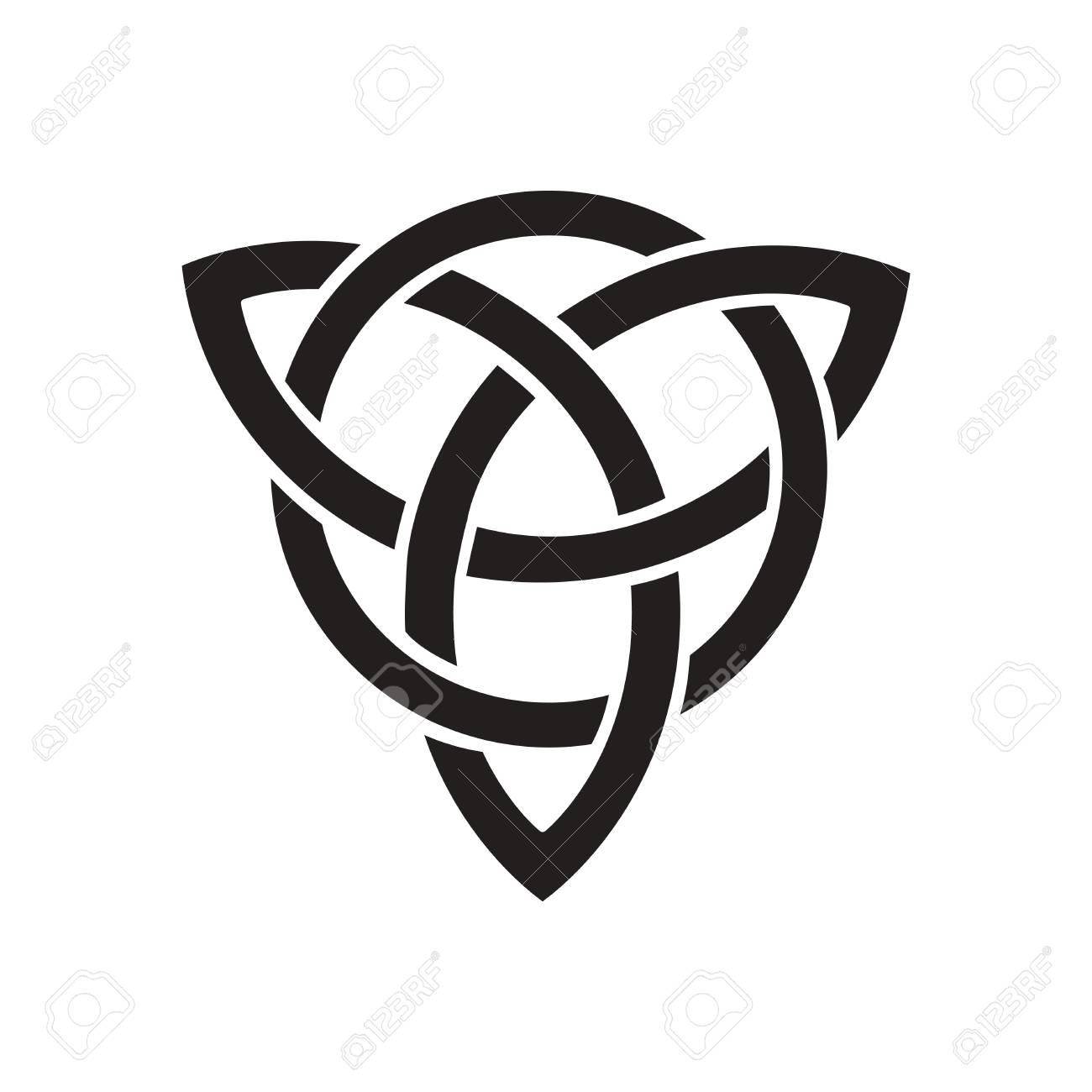 Flache Symbol In Schwarz Und Weiß Keltisches Symbol Lizenzfrei