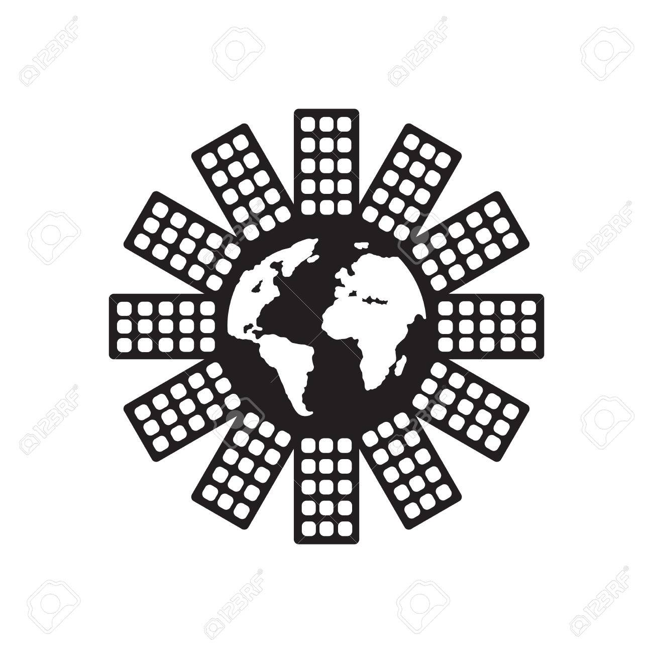 Flat Icon In Black And White World Population Stock Vector   62507510