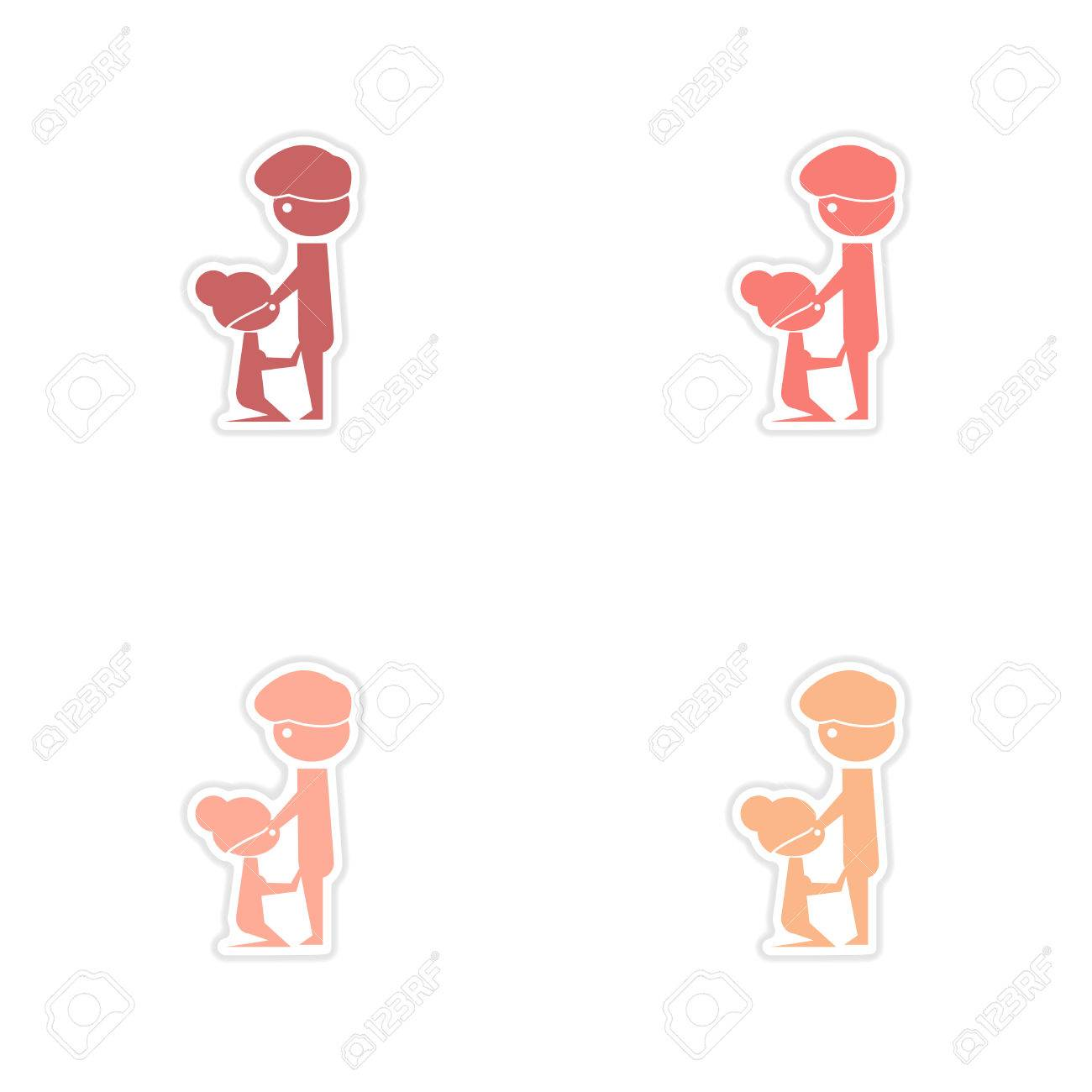 Concept Paper Stickers On White Background Kamasutra Positions Stock Vector 83998673