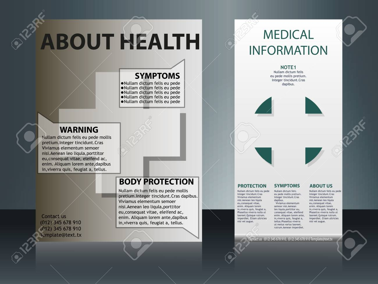 Collection of 2 abstract medical business cards or visiting cards collection of 2 abstract medical business cards or visiting cards on different topic arrange in reheart Image collections