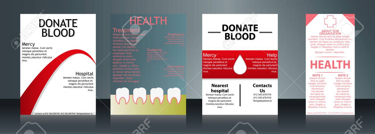 collection of stylish flyers templates or banners for medical