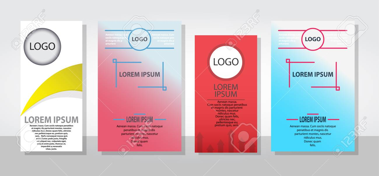 Set Of Posters Flyers Pamphlet Brochure Cover Design Layout With ...