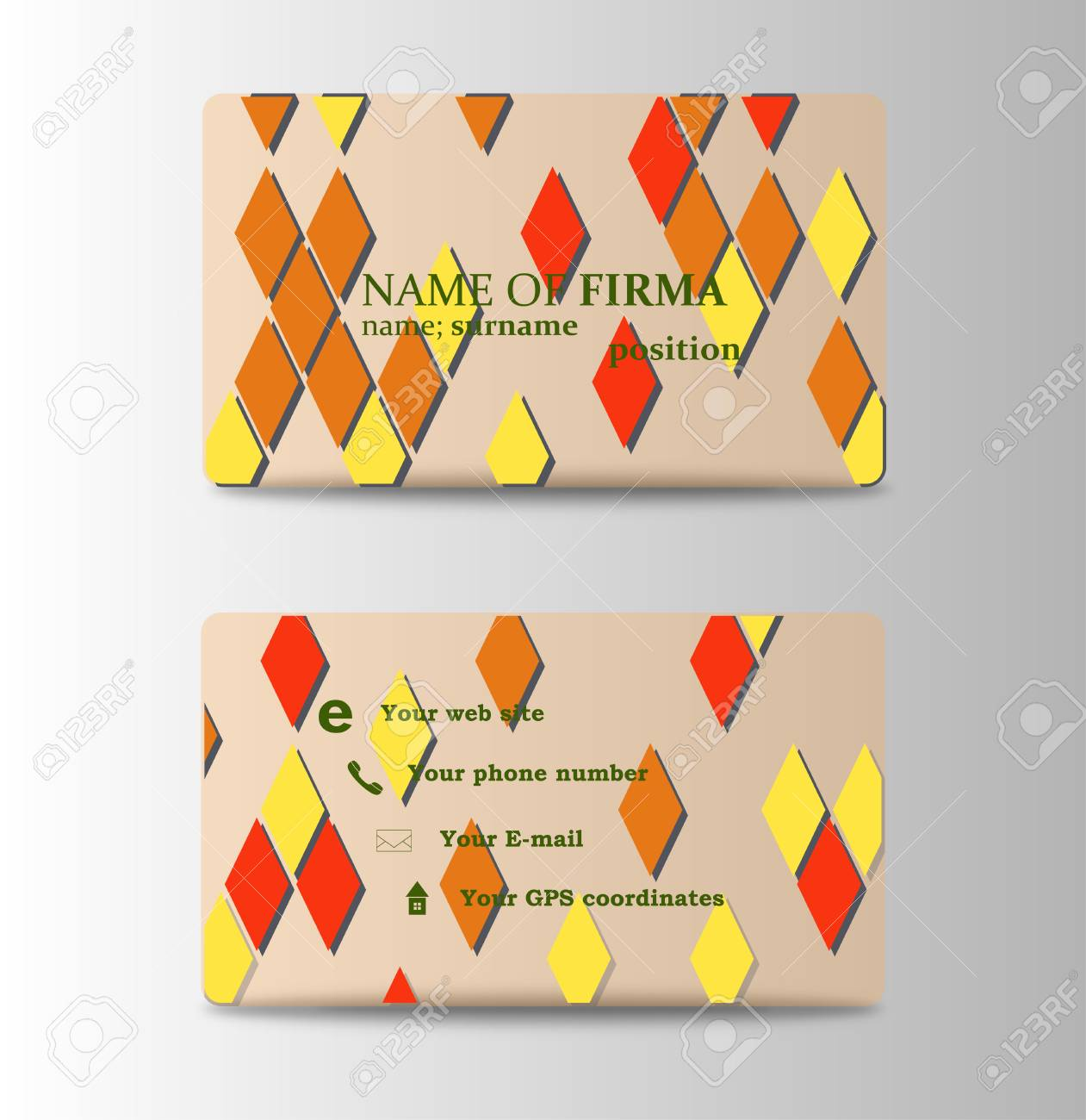 A vector modern creative and clean business card template diamond a vector modern creative and clean business card template diamond shaped background in personal colourmoves
