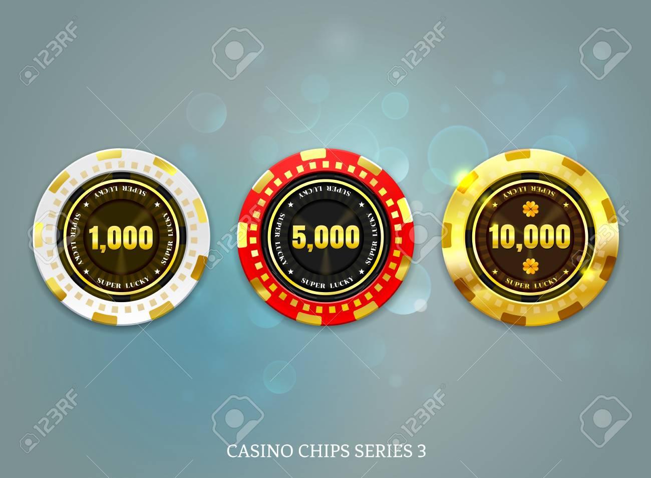 casino coins chip set on bokeh background vector illustration - 101689940