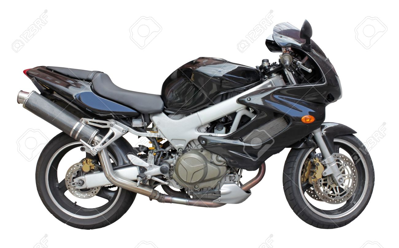 Motorbike side view isolated on white background. Stock Photo - 11049108