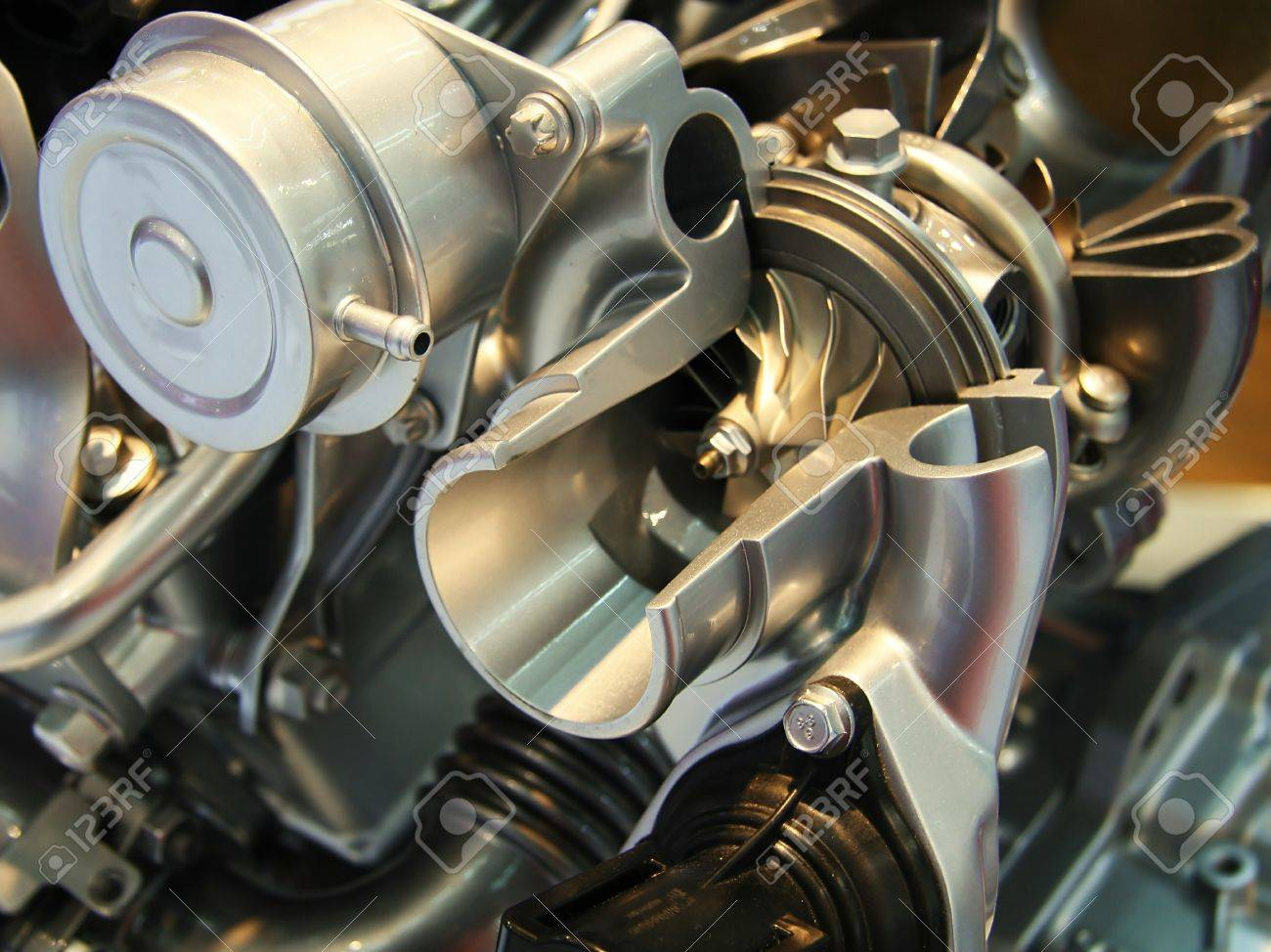 Cut off car turbocharger Stock Photo - 16859225