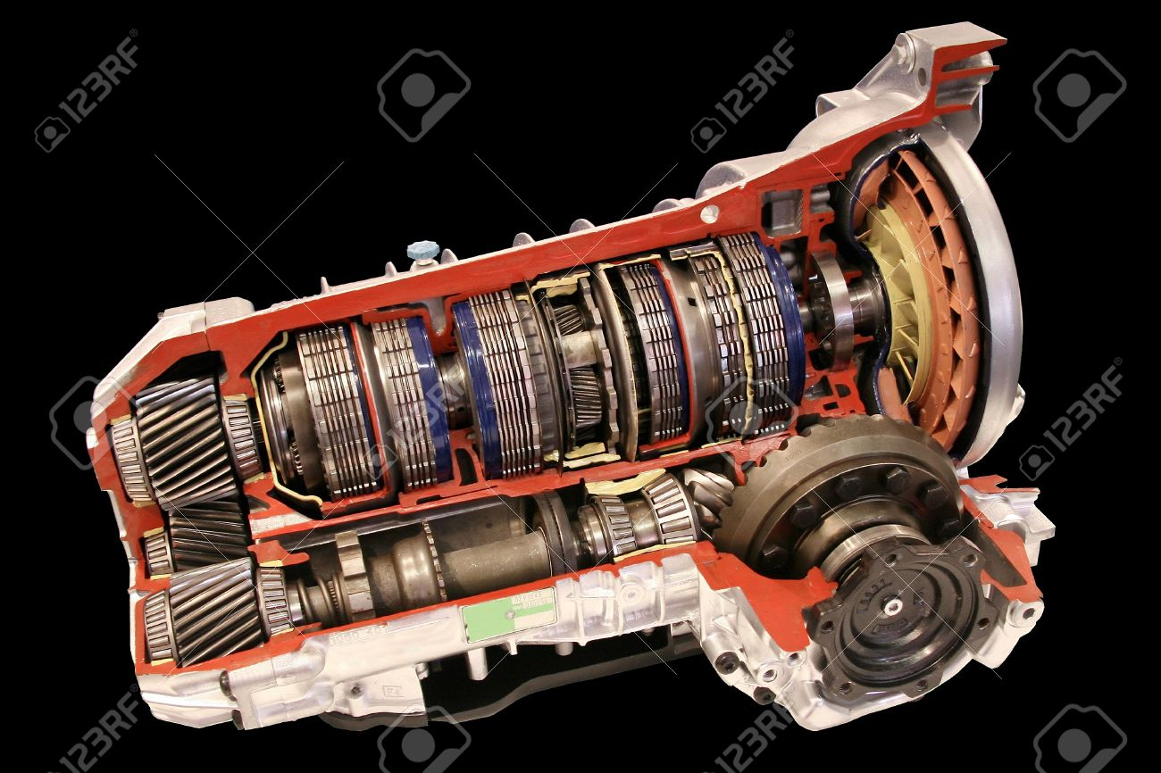 Automatic gearbox cross section on black Stock Photo - 16859227