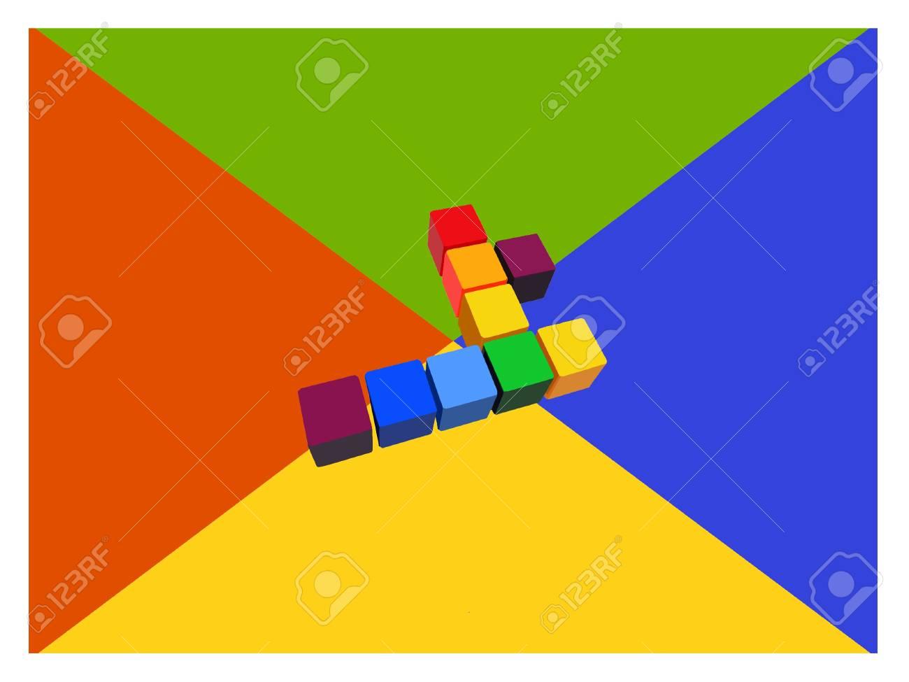 Social media 3D Web color Stock Photo - 17224037