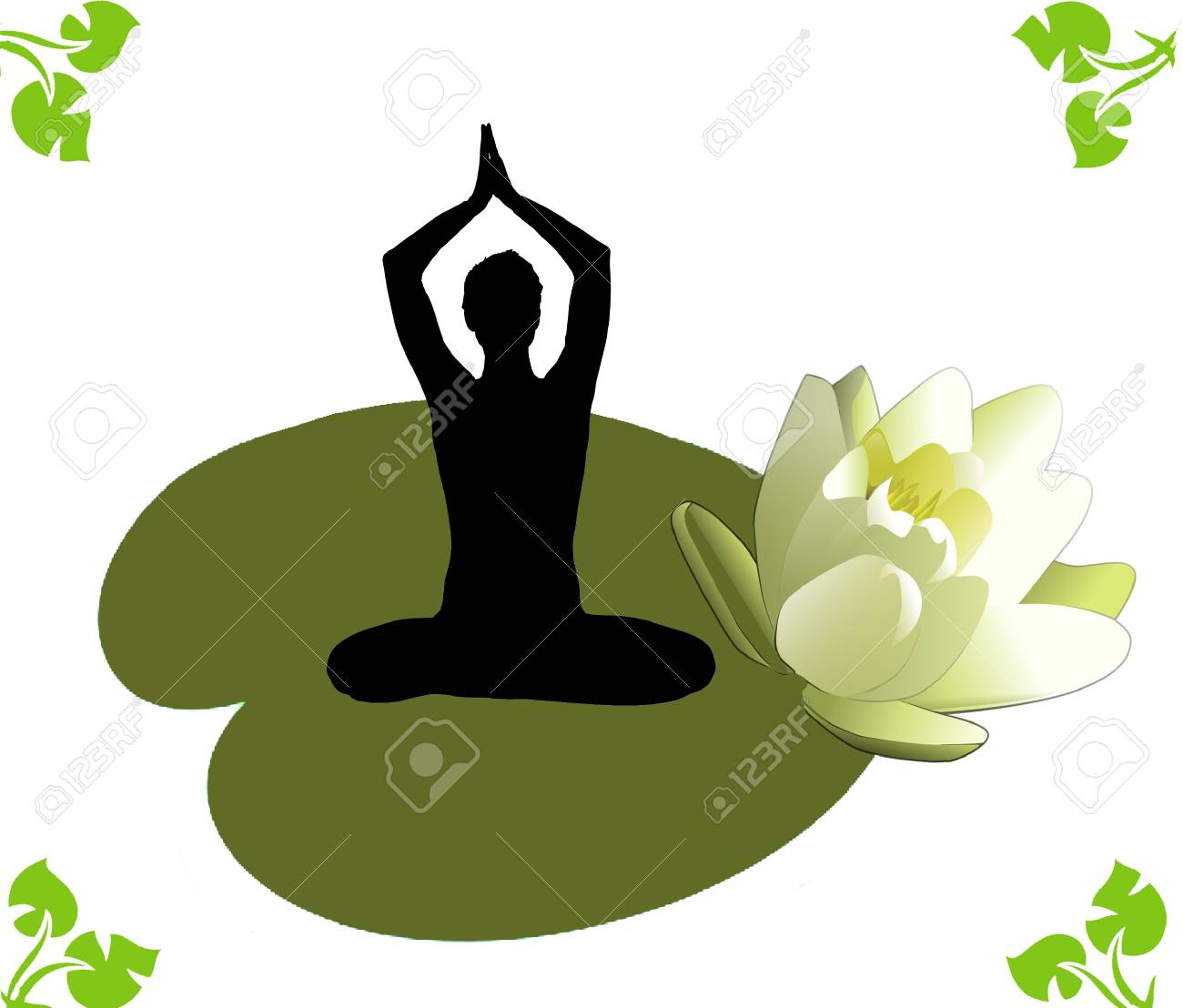 Yoga lotos exercises Stock Photo - 17235555