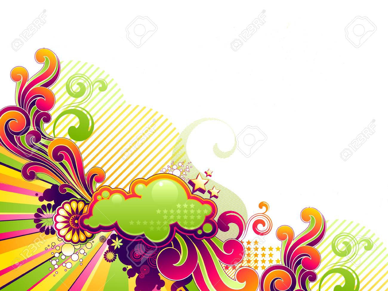 Colors shape textcard Stock Photo - 17508875