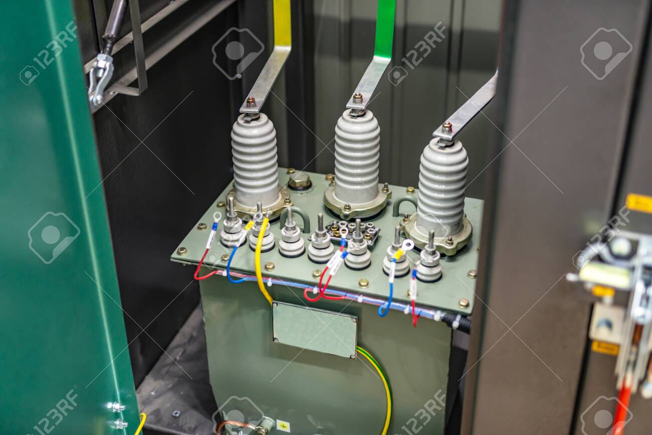 Transformer high voltage 10 kV in a special cell
