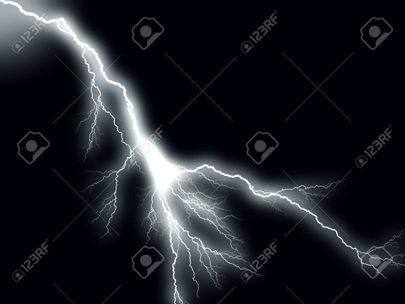 Thunderbolt storm lightning Stock Photo - 3888411