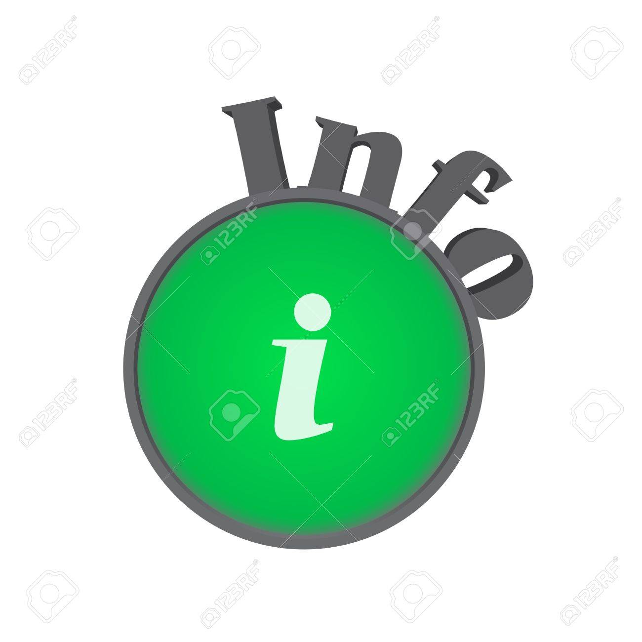 Info symbol in green on white background Stock Vector - 18294025