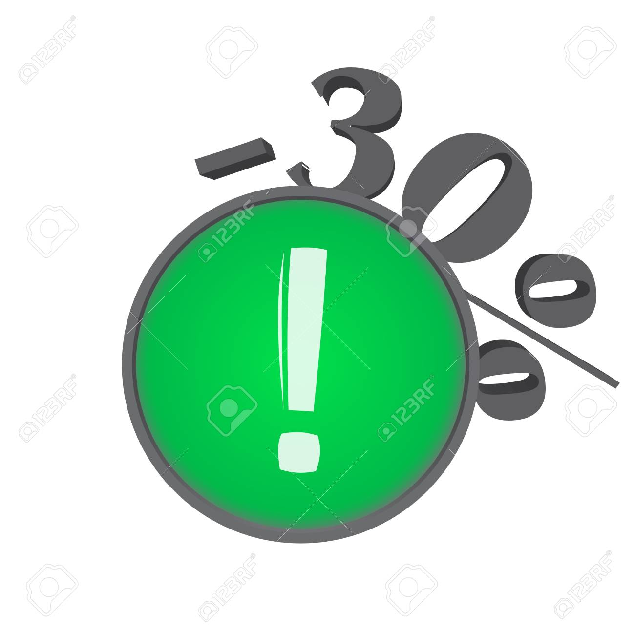 Sign that show the percentage that the price falls Stock Vector - 18298194