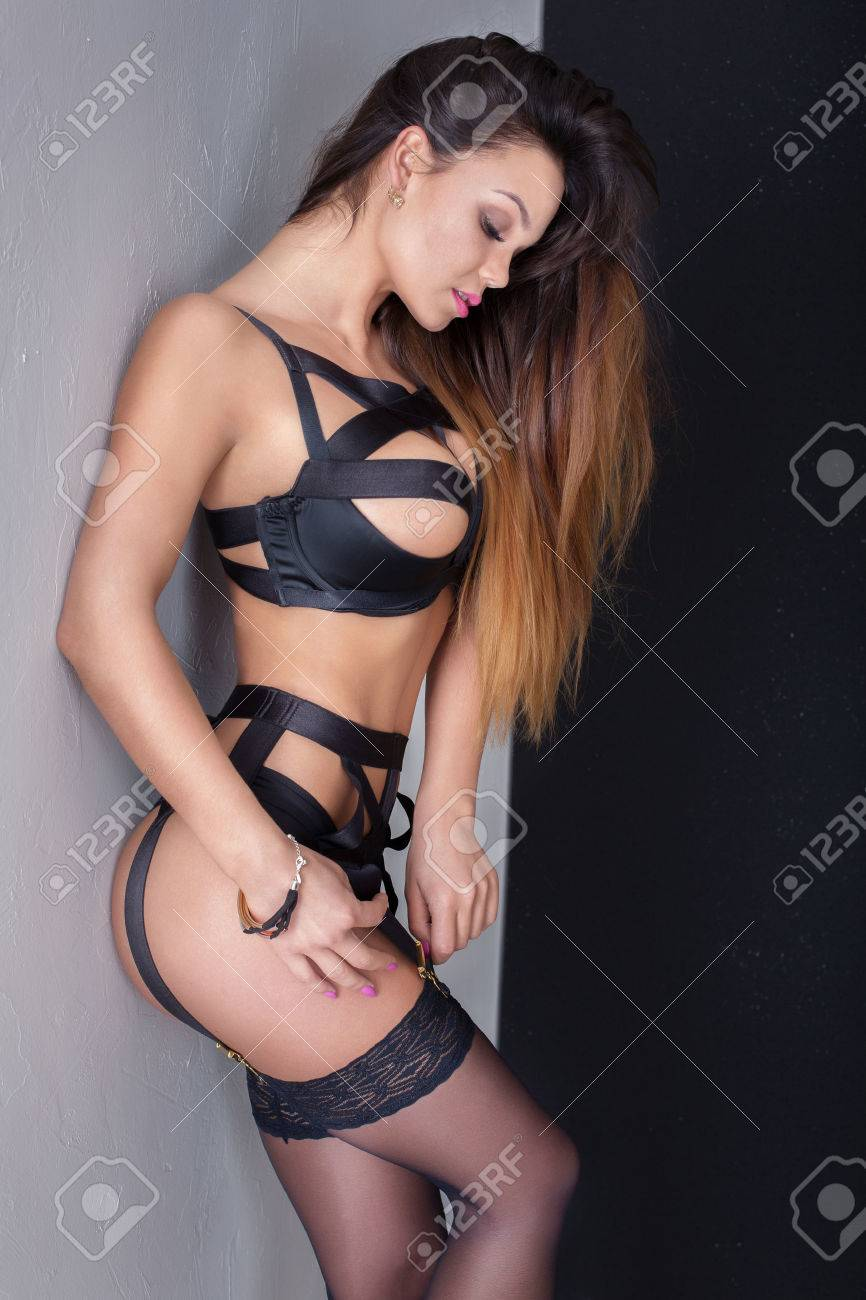 Hot and sexy brunettes Sexy Brunette Woman Posing In Lingerie Perfect Slim Body Glamour Makeup Stock Photo Picture And Royalty Free Image Image 58854418