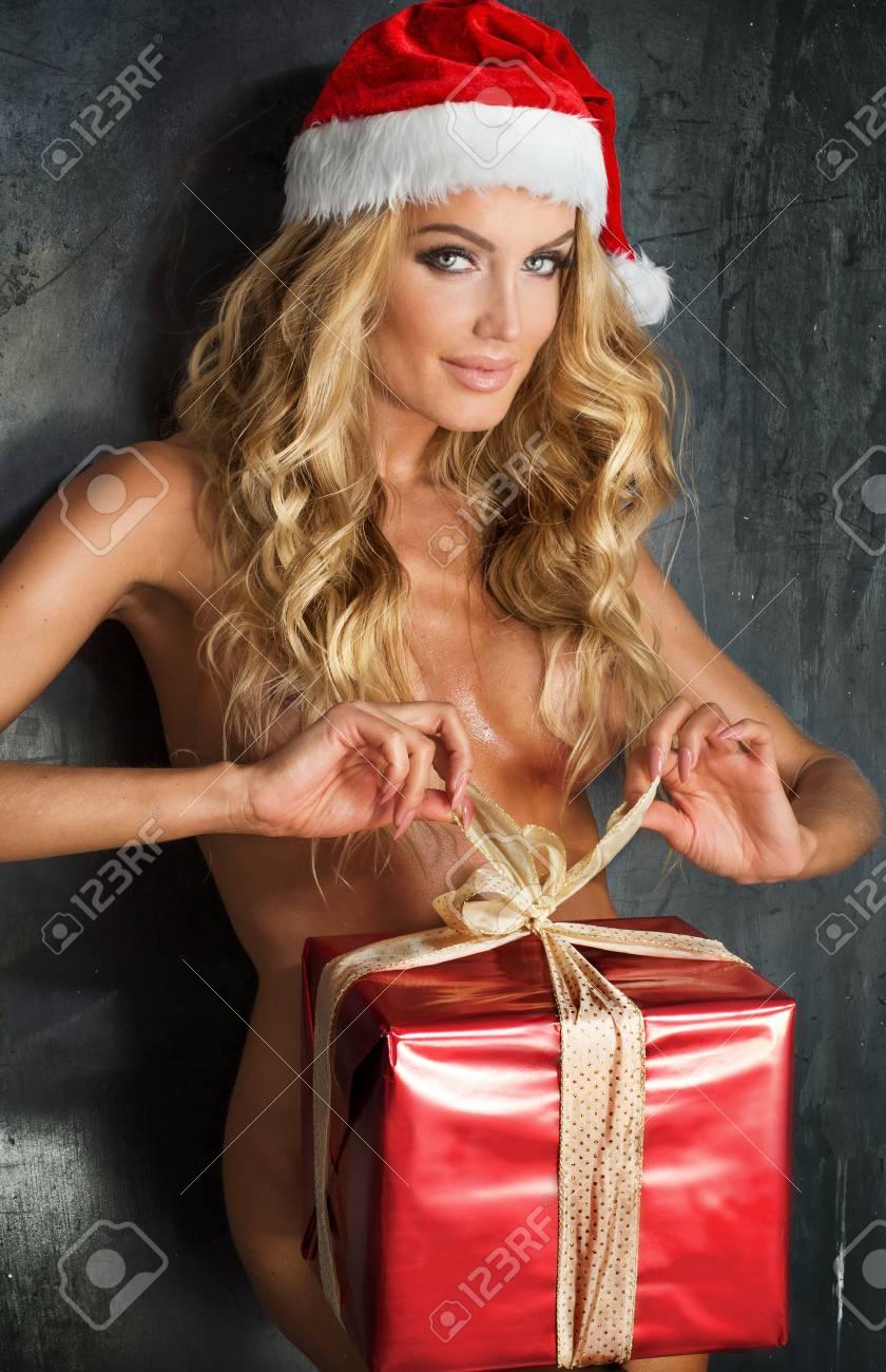 sexy blondine weihnachten santa madchen nackt