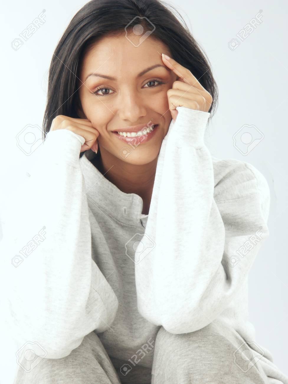 Beautiful young hispanic woman Stock Photo - 22362204