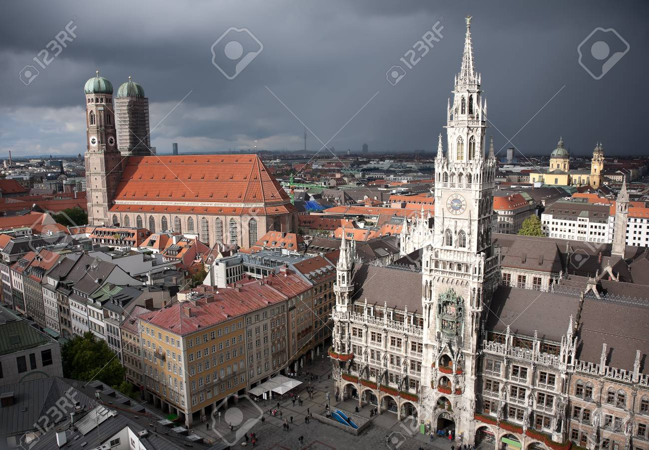 Munich Marienplatz at storm Stock Photo - 11373923