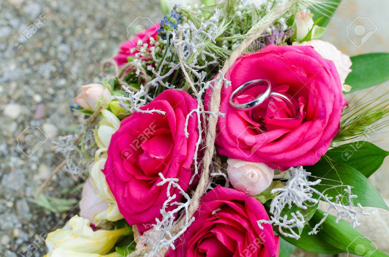 Pink Flower On Wedding Day Stock Photo Picture And Royalty Free