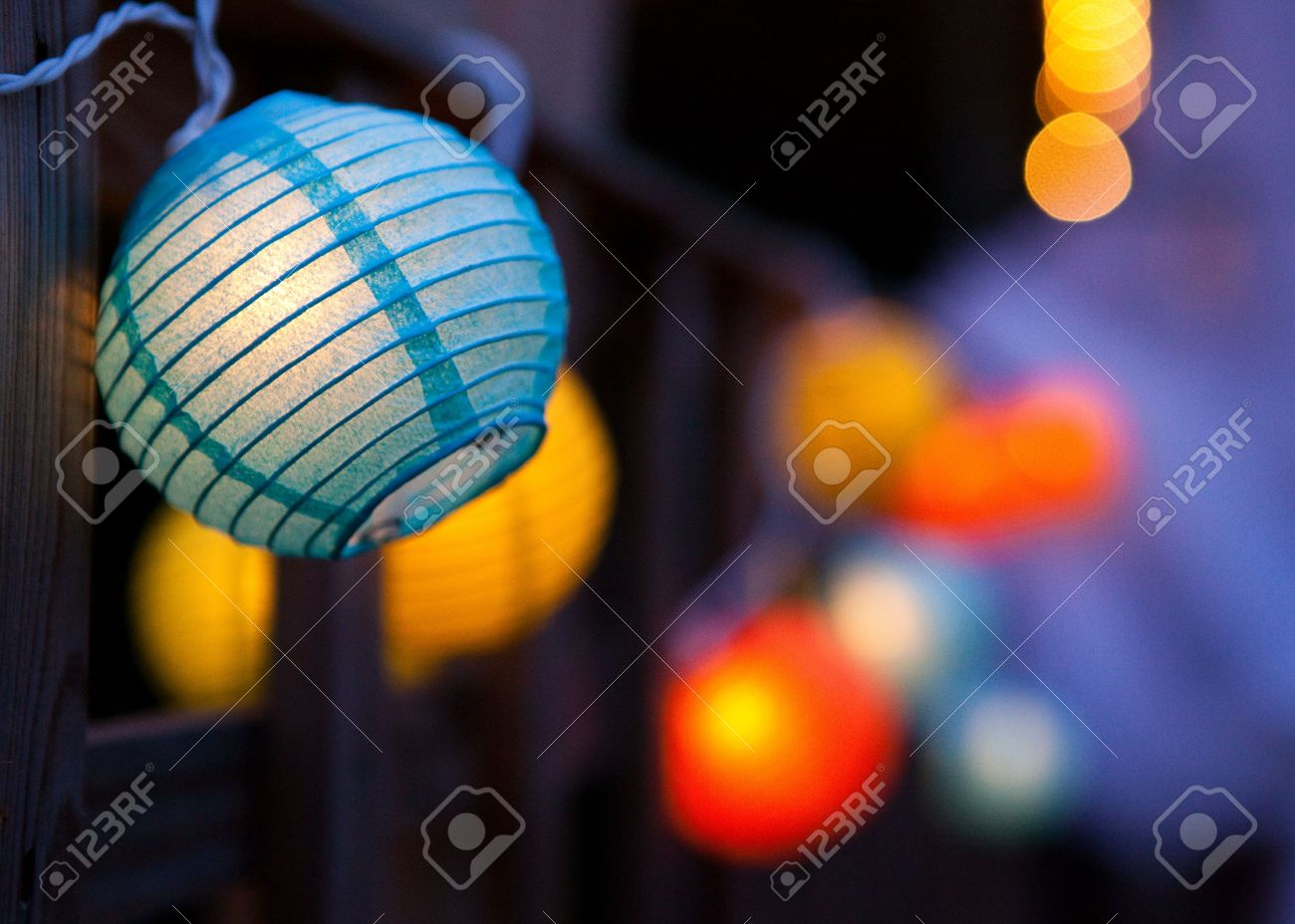 Small Colourful Paper Lanterns. Stock Photo, Picture And Royalty ... for Paper Lantern Photography  143gtk