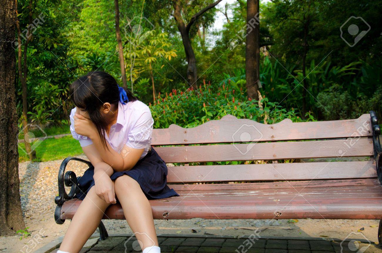 Студентка в парке 20 фотография