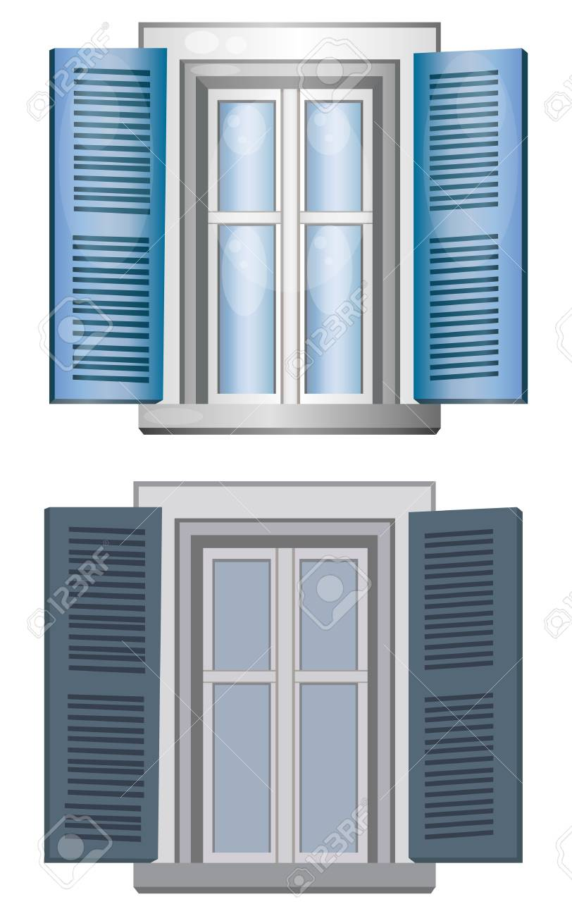 Two classic-style windows made by vector Stock Vector - 16634842