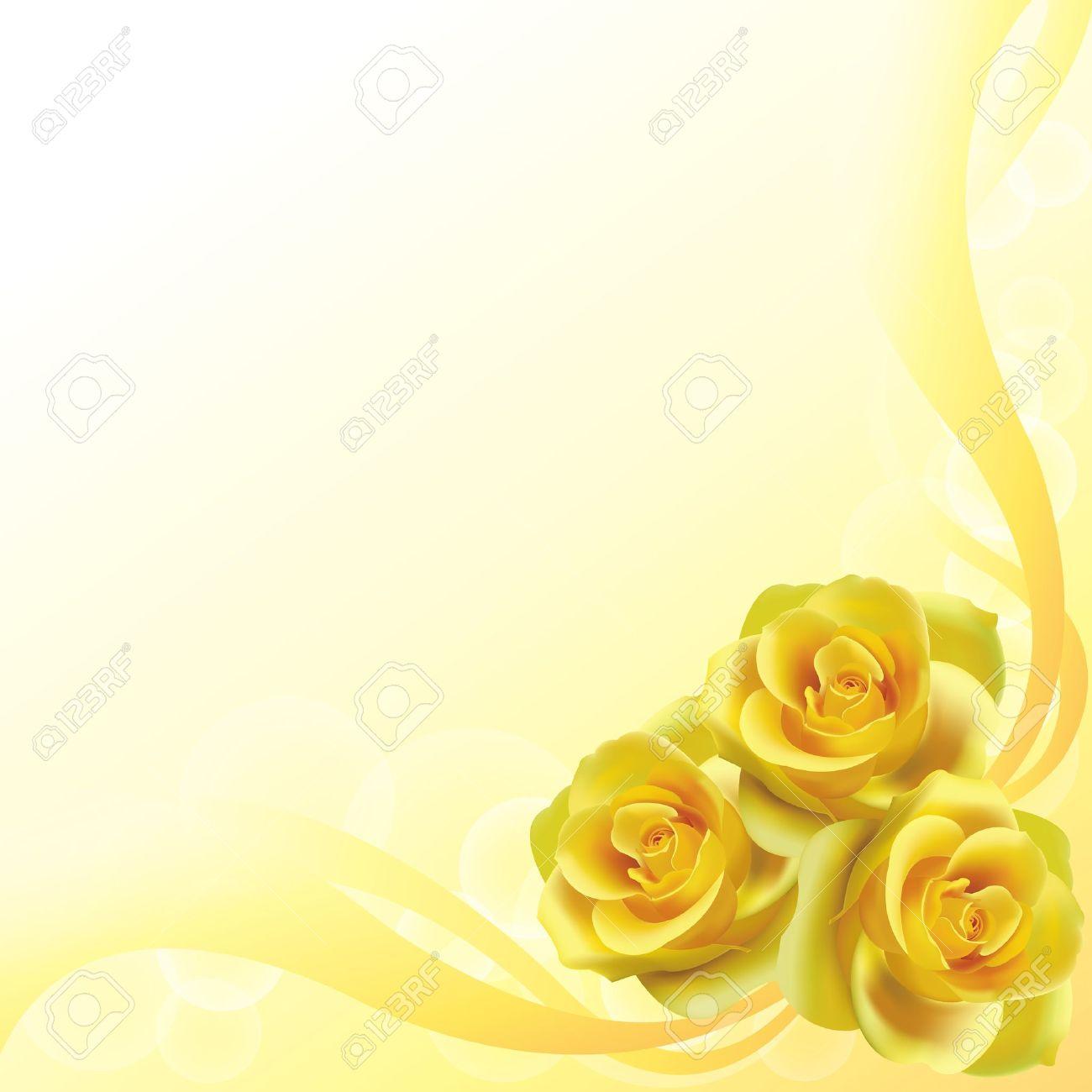 Yellow roses backgroun...