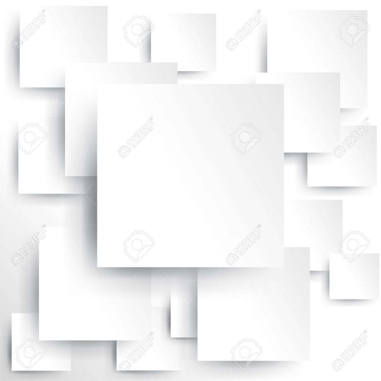 Square element on white paper with shadow Stock Vector - 17046353