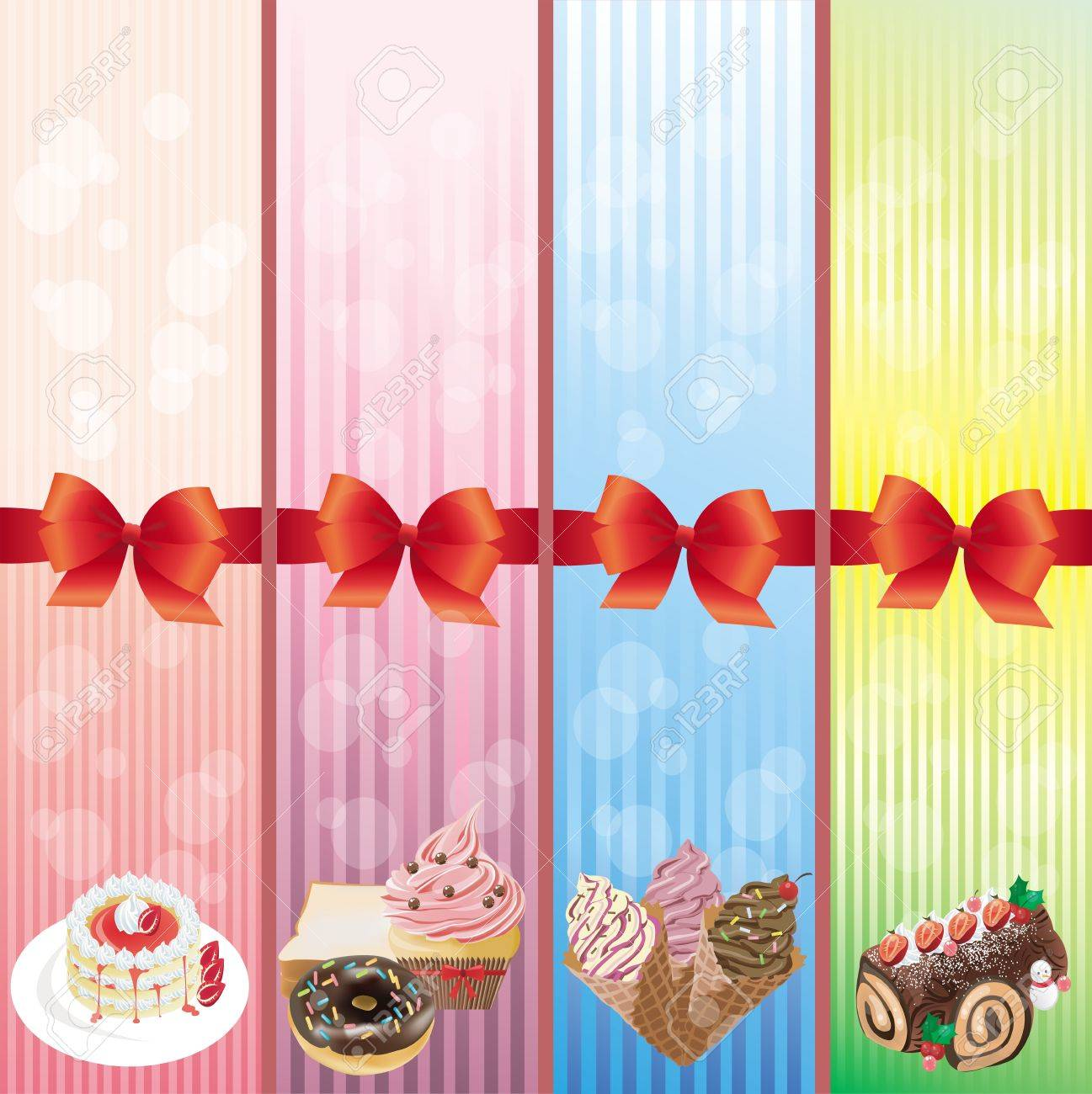 Sweets and dessert banner collection Stock Vector - 17046667