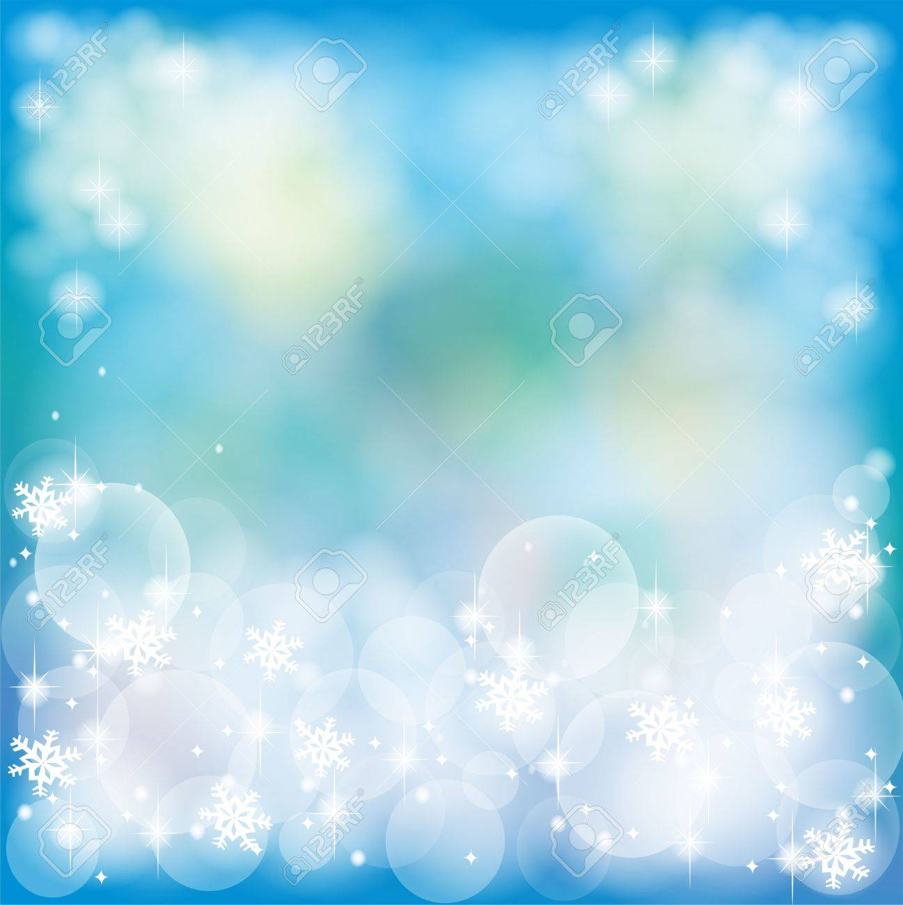Deep blue abstract background with bubble and sparkle, create by vector Stock Vector - 17103855