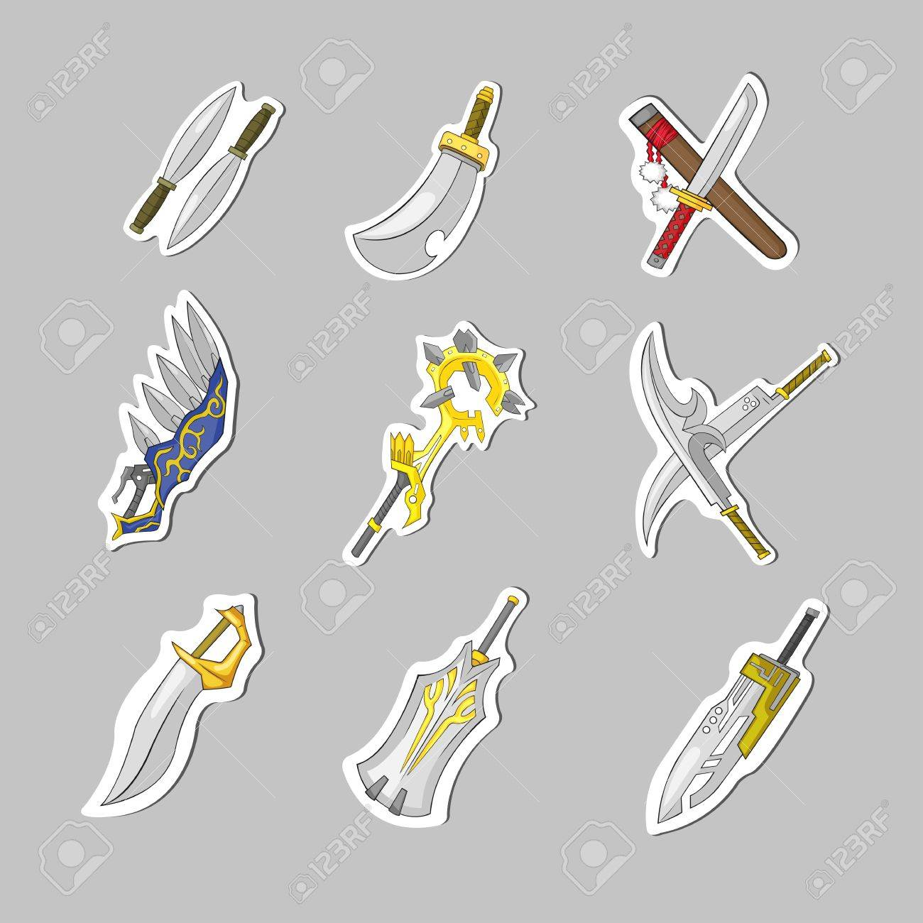 Creative sword collection set, create by vector Stock Vector - 19110306