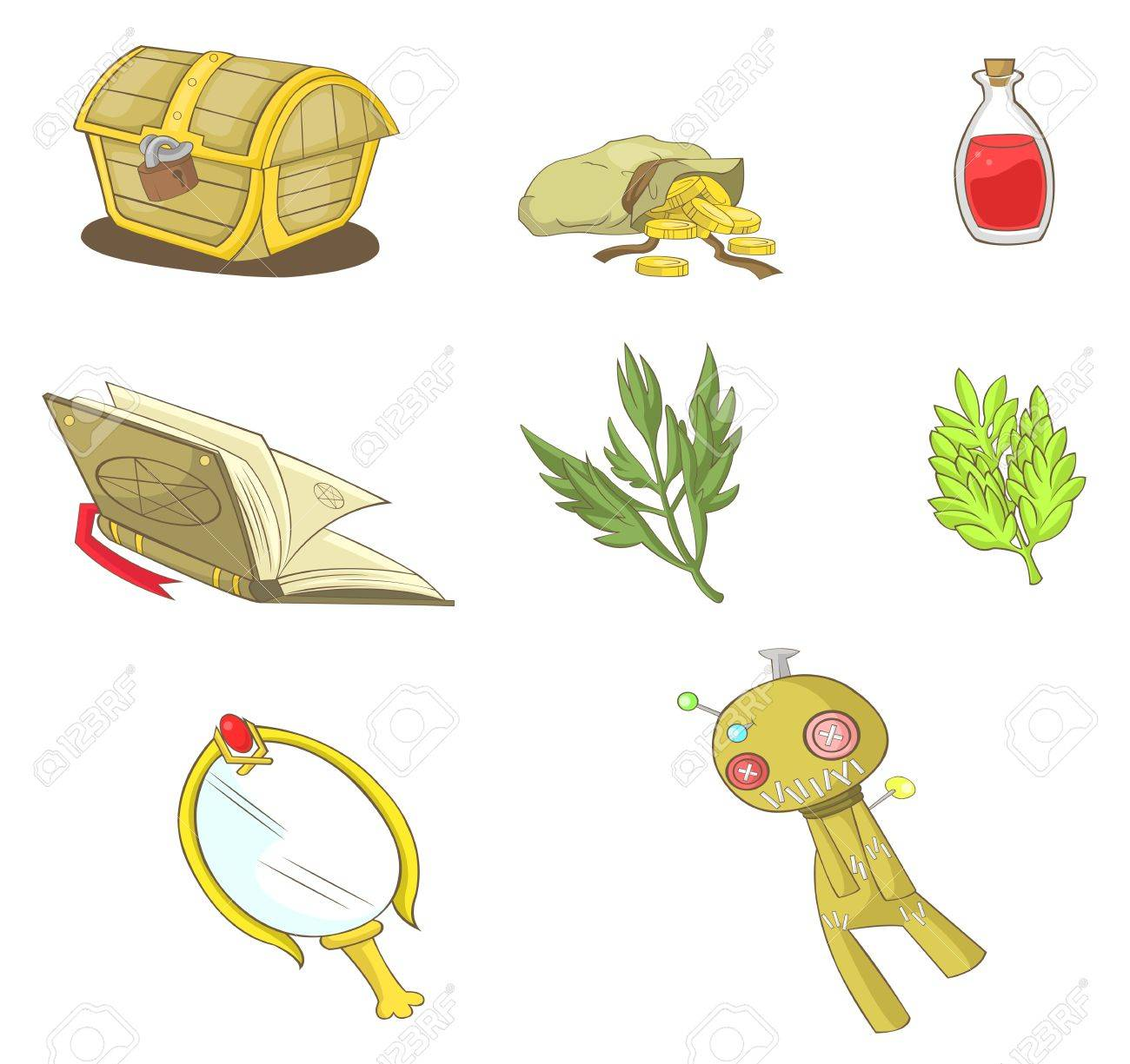 Magical items collection set, create by vector Stock Vector - 19282227