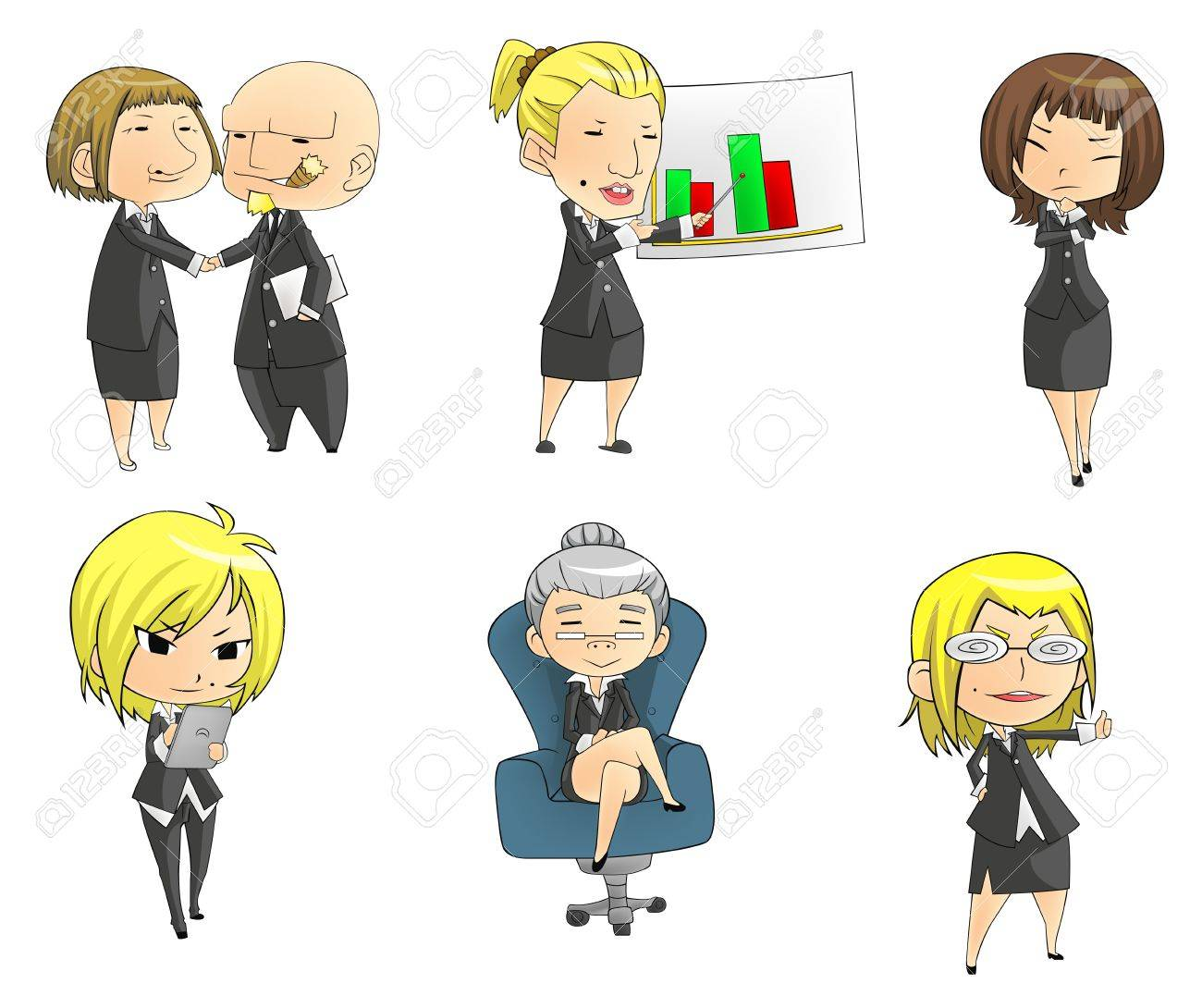 SD businesswomen, create by vector Stock Vector - 20481555