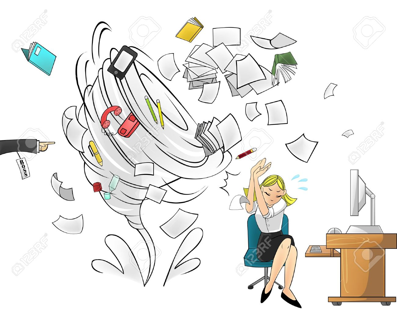 Image result for workaholic lady cartoon