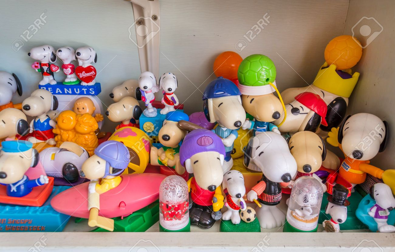 Bangkok Thailand July 10 Various Snoopy Toys Collection From