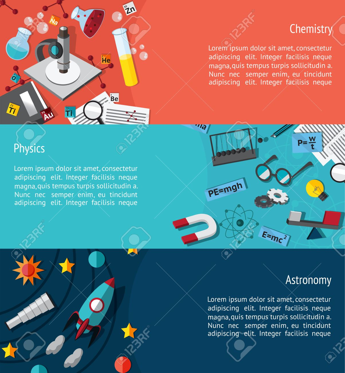 Science Education Infographic Banner Template Layout Such As Within Science Fair Banner Template