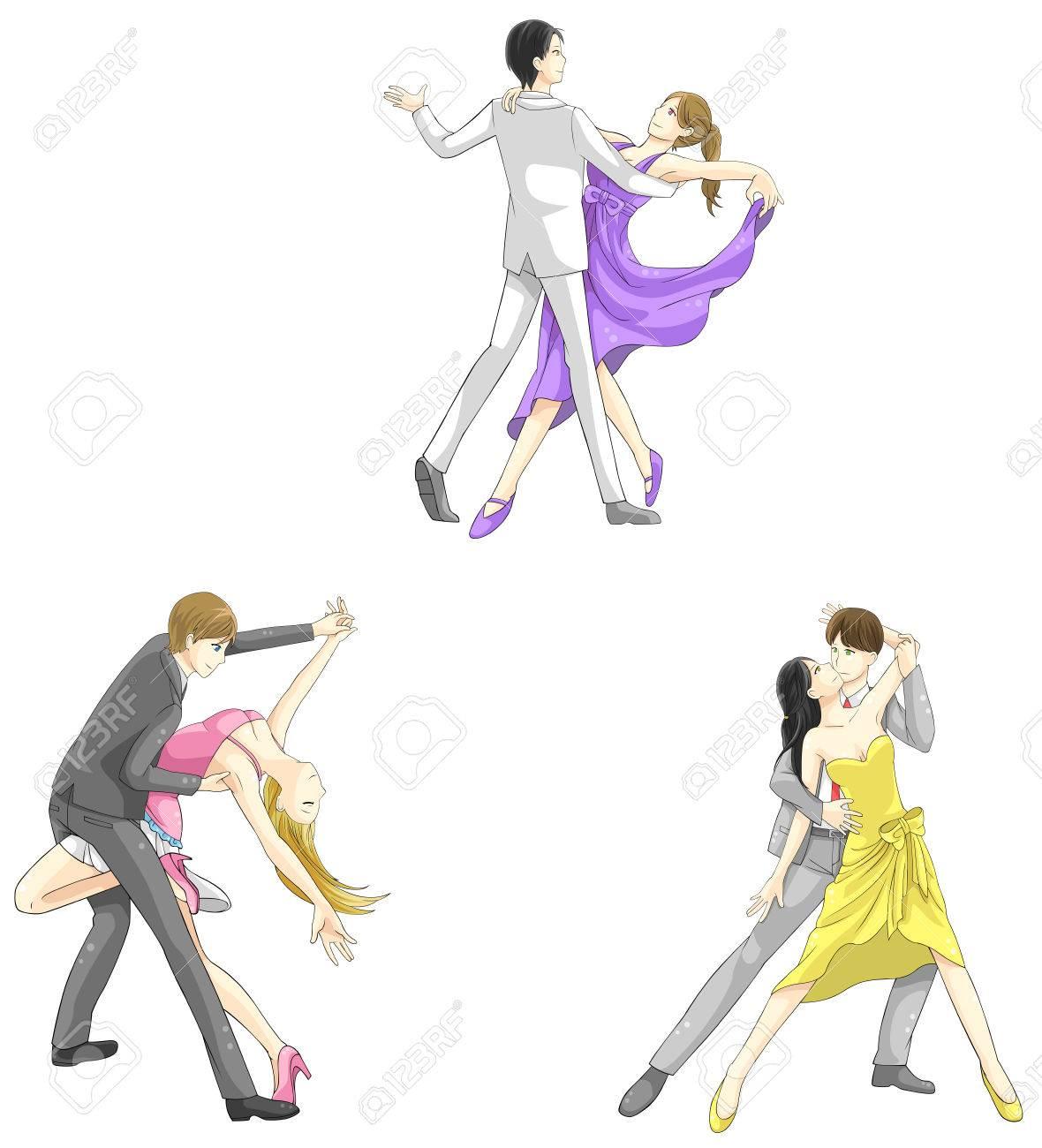 ベクターで vaus アクションでダンサーのファッション衣類、男女両方の