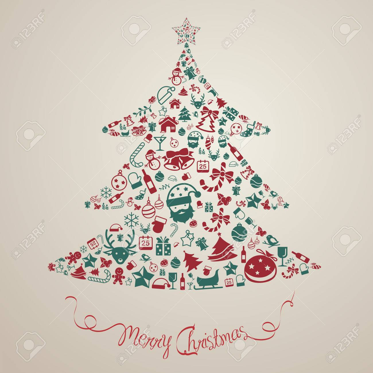 christmas and new year ornament present decoration and object icon background badge template layout in christmas