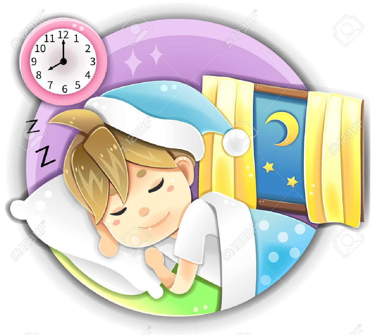 Sehr Ausfuhrlich Illustration Cartoon Mannlichen Charakter Pyjama