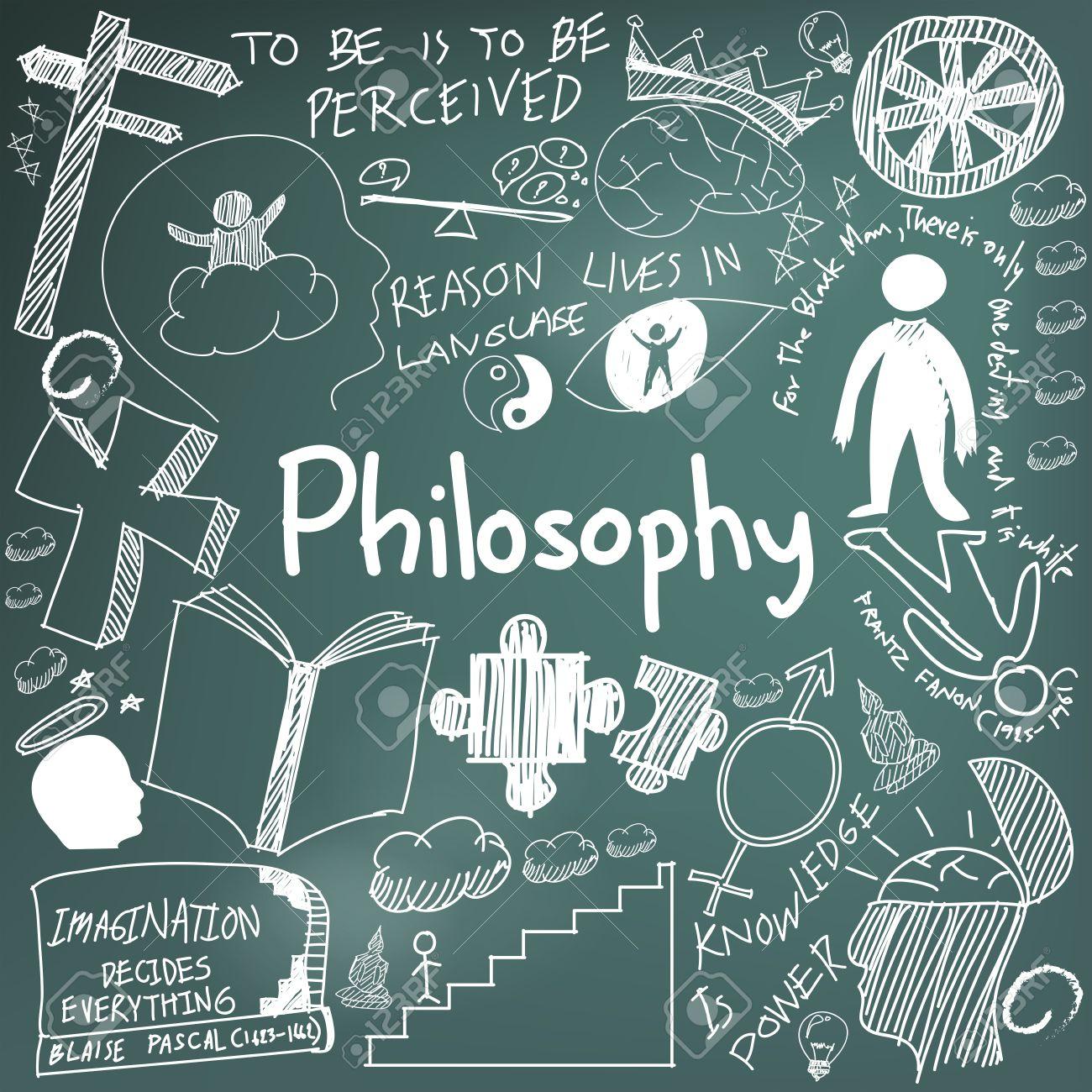 mundial de la filosofía y la doctrina religión tiza escritura a mano