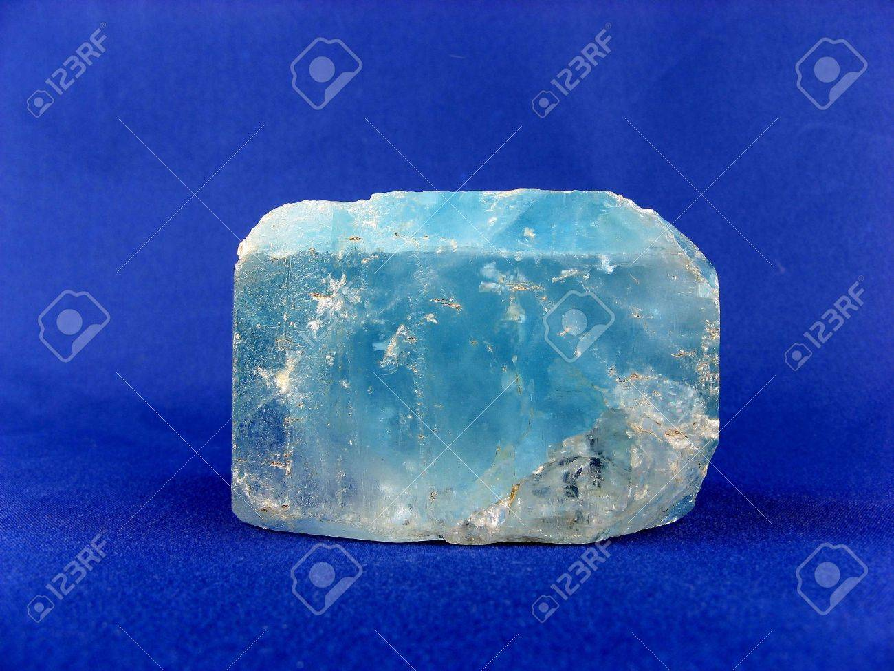 A very large natural blue Topaz crystal, Namibia. Of interest to jewellers, collectors and for alternative medicine - gout, blood disorders, TB and tissue regeneration Stock Photo - 4745583