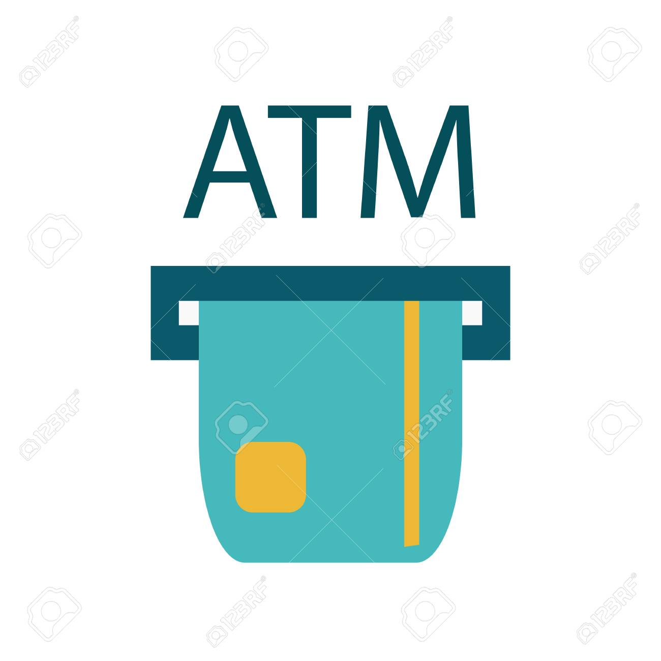 atm payment vector illustration atm machine with hand and credit rh 123rf com major credit card logos vector credit card logos vector download