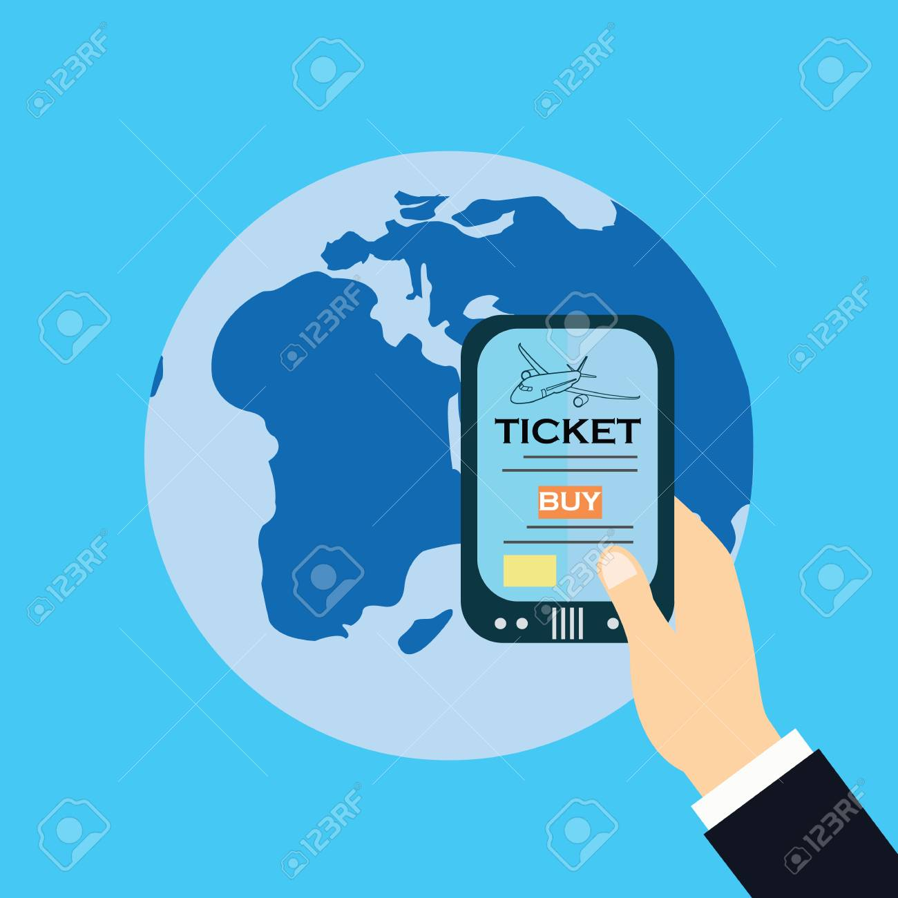 Buy ticket on line smart phone application globe world map travel buy ticket on line smart phone application globe world map travel vacation trip booking air gumiabroncs Images