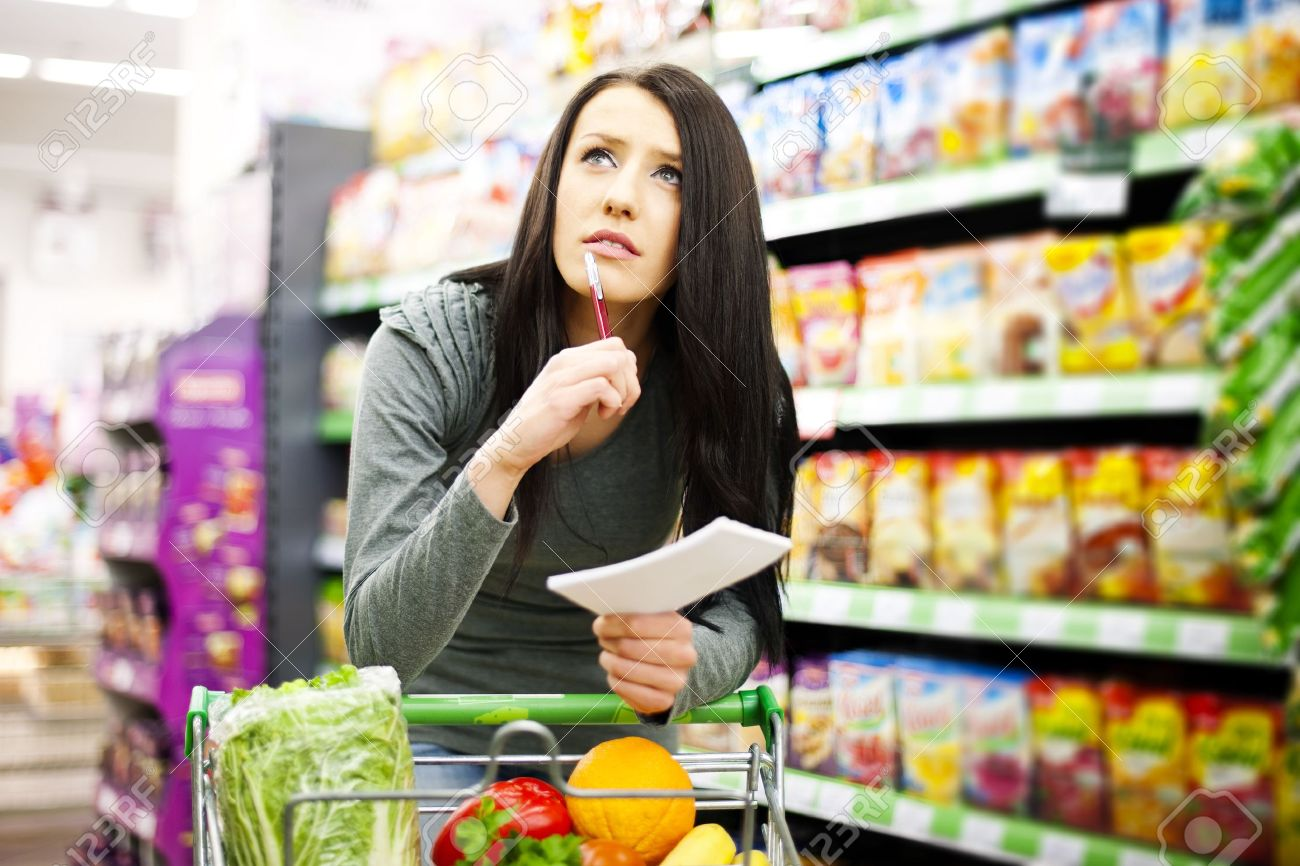 Shopping list Stock Photo - 18161297