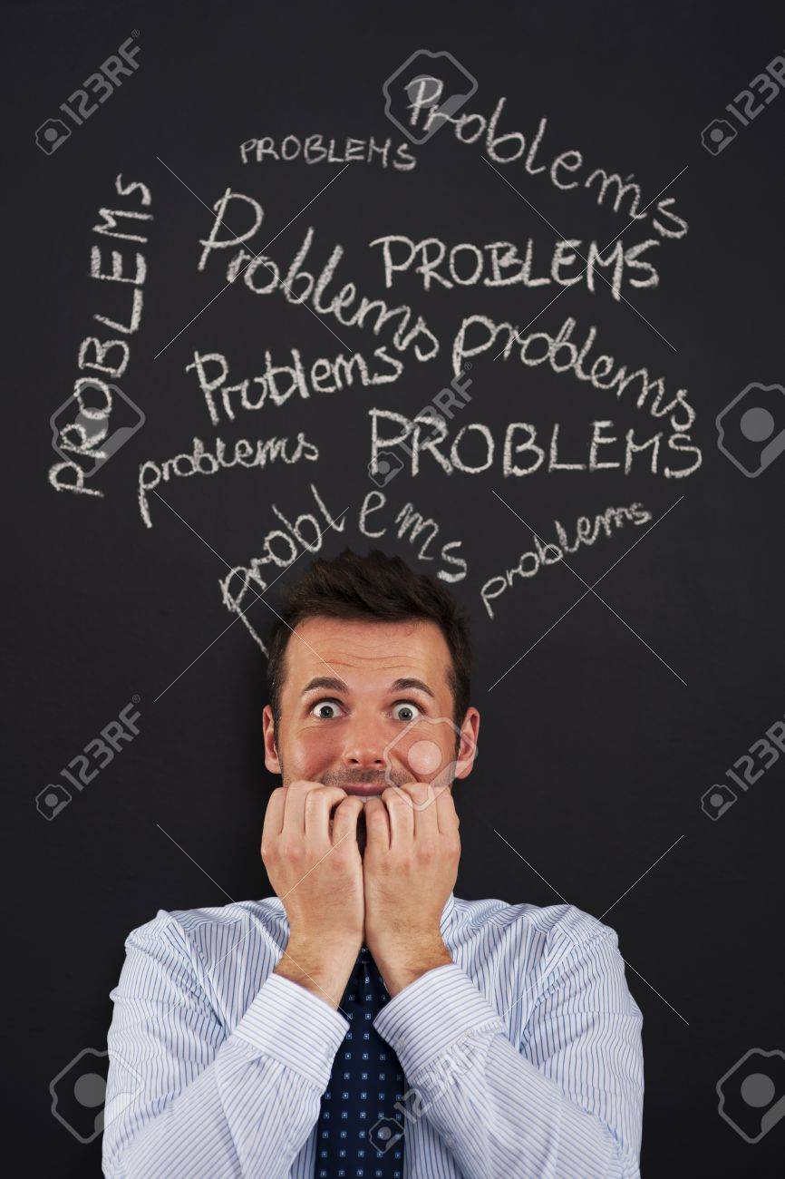 Serious problems at work Stock Photo - 20366779