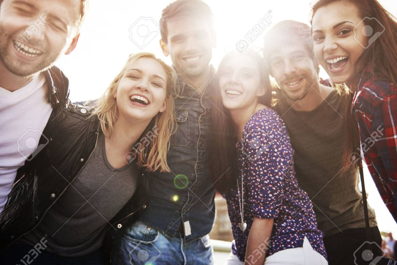 Friends spending time during such sunny day Stock Photo - 45183398