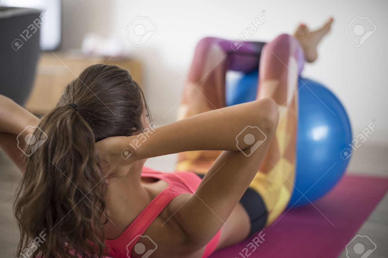 Workout at home can be also productive Stock Photo - 45524369