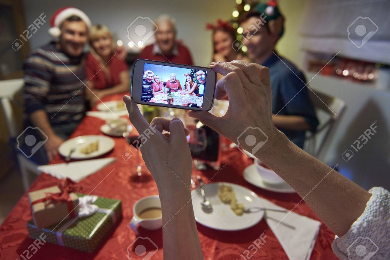 Family memories from christmas eve Stock Photo - 47797738